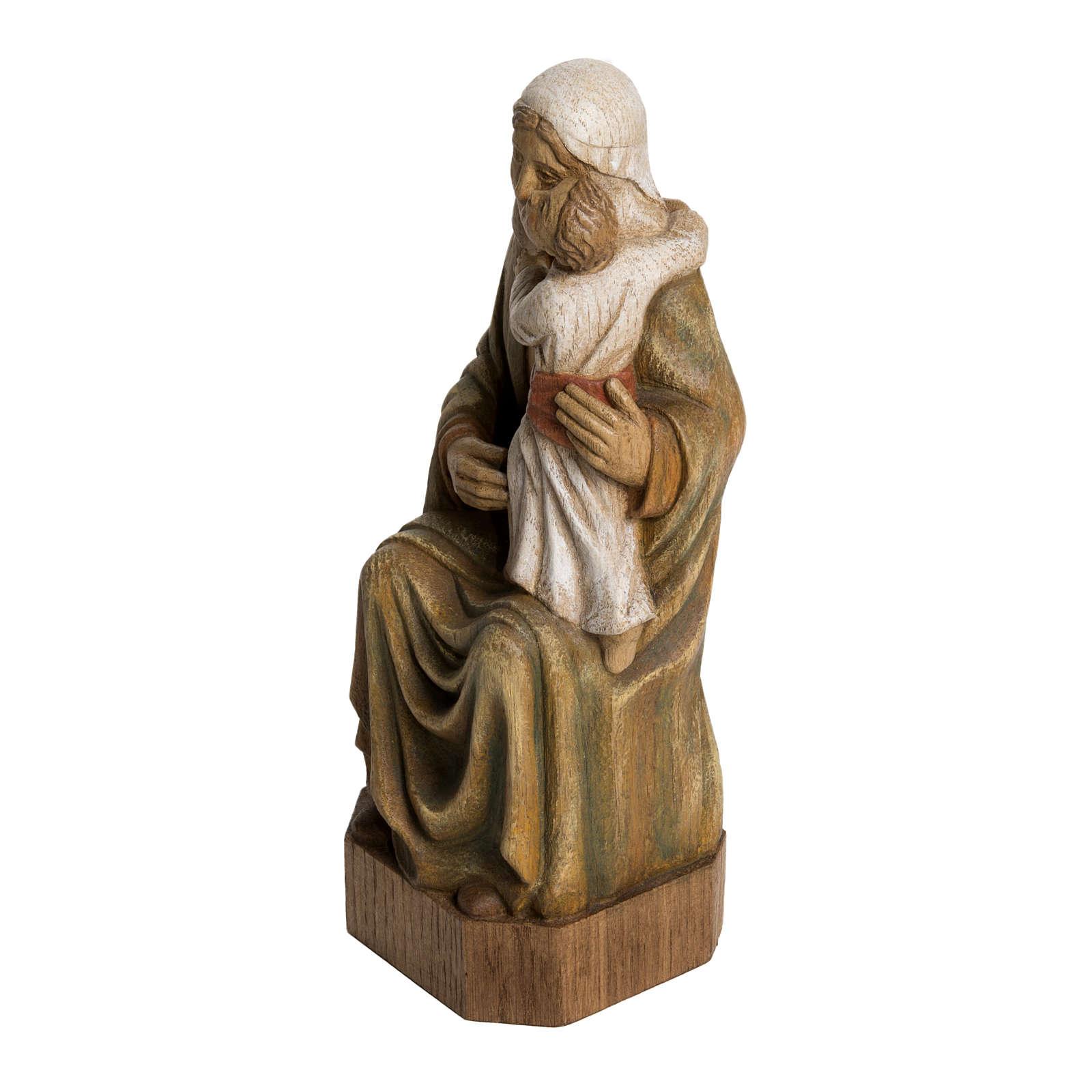 Vergine Spagnola 27 cm legno dipinto Bethléem 4
