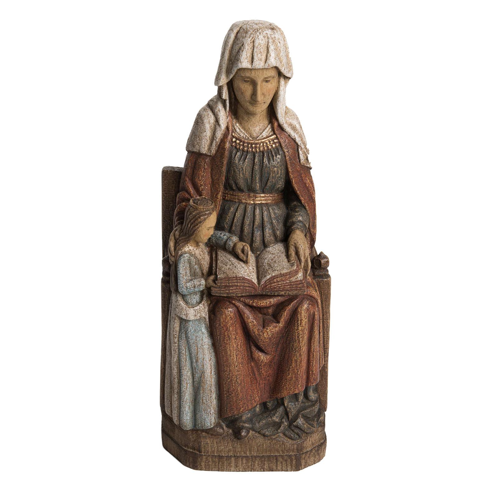 Sainte Anne avec Marie 33 cm bois Bethléem 4