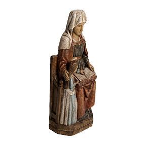 Sainte Anne avec Marie 33 cm bois Bethléem s2