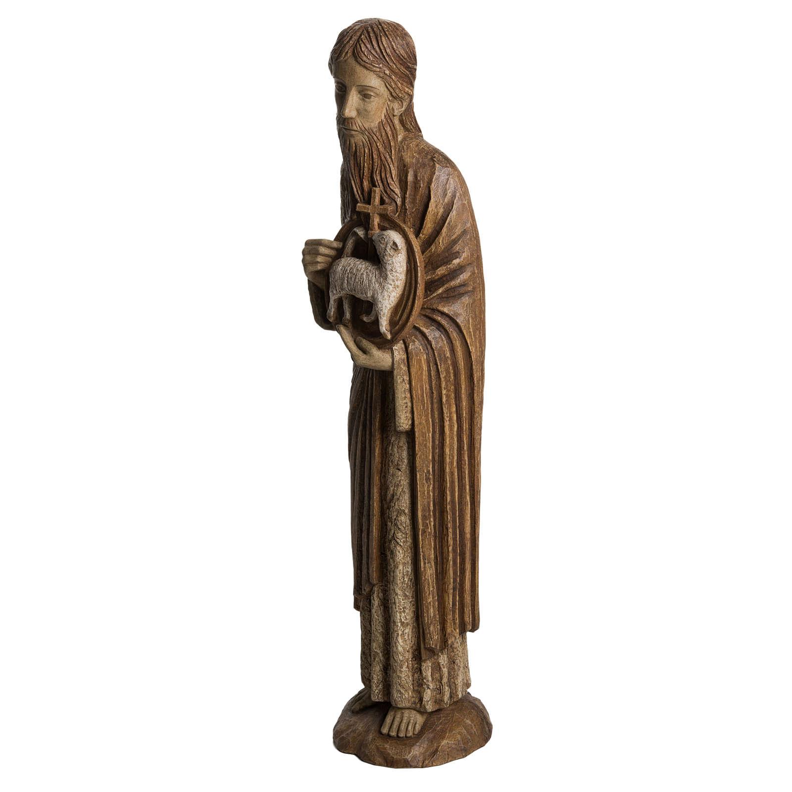 San Giovanni Battista di Chartres 74 cm legno Bethléem 4