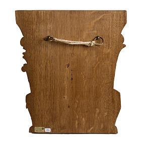 Ultima Cena 40 cm legno bassorilievo Bethléem s4