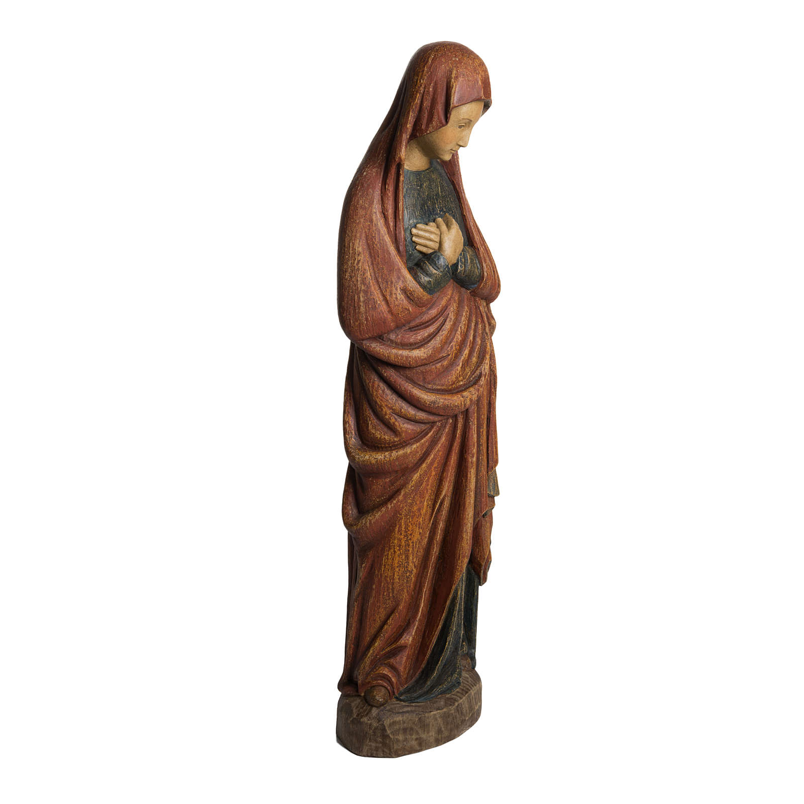 Madonna dell'Annunciazione 52 cm legno Bethléem 4