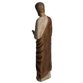 Saint Joseph with dove statue in wood, 60 cm s4