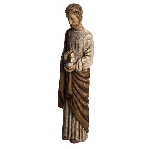 Saint Joseph with dove statue in wood, 60 cm 3