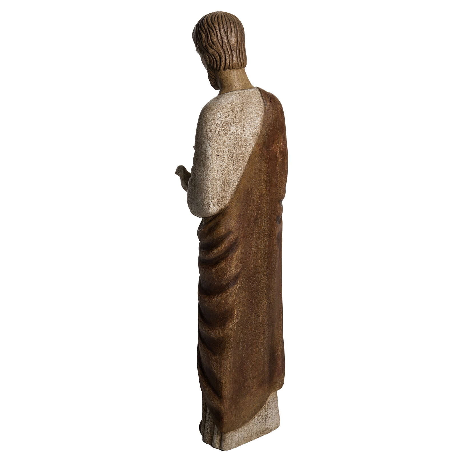 San Giuseppe con colomba 60 cm legno dipinto Bethléem 4