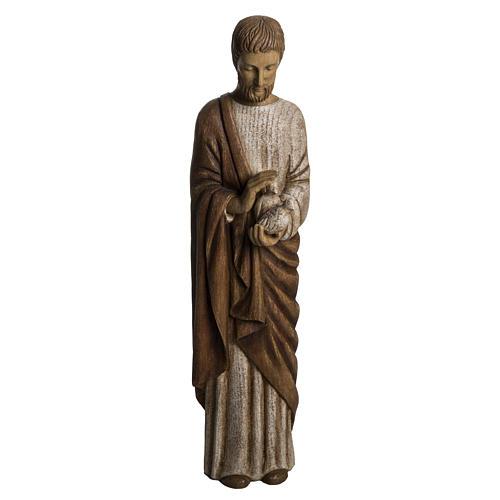 San Giuseppe con colomba 60 cm legno dipinto Bethléem 1