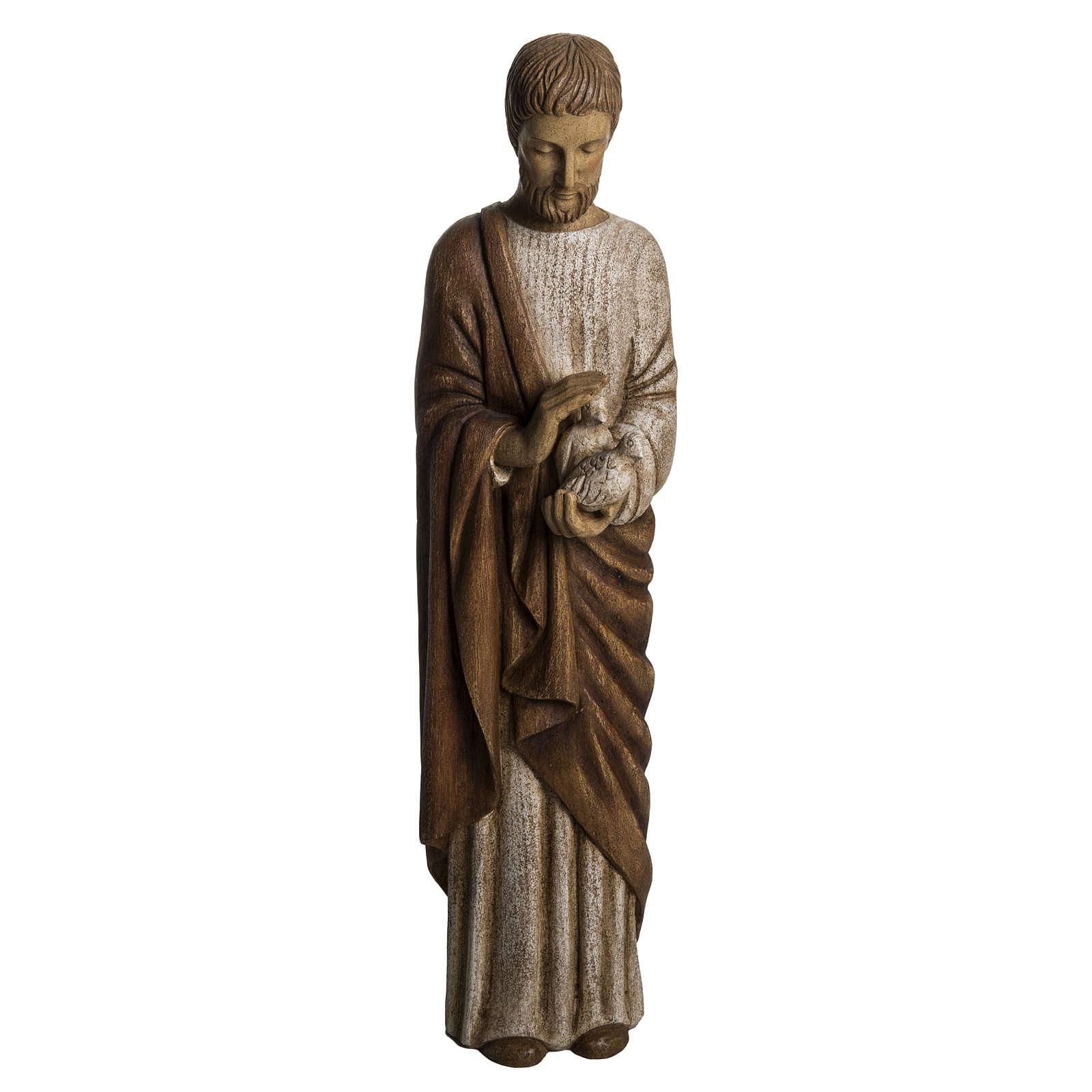 Św. Józef z gołębicą 60cm malowane drewno 4