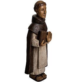 San Domenico 46 cm legno dipinto Bethléem s2