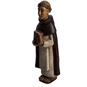 San Domenico 46 cm legno dipinto Bethléem s3
