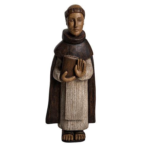 San Domenico 46 cm legno dipinto Bethléem 1