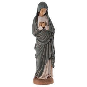 Statues en bois peint: Notre Dame de l'Annonciation 80 cm bois Bethléem