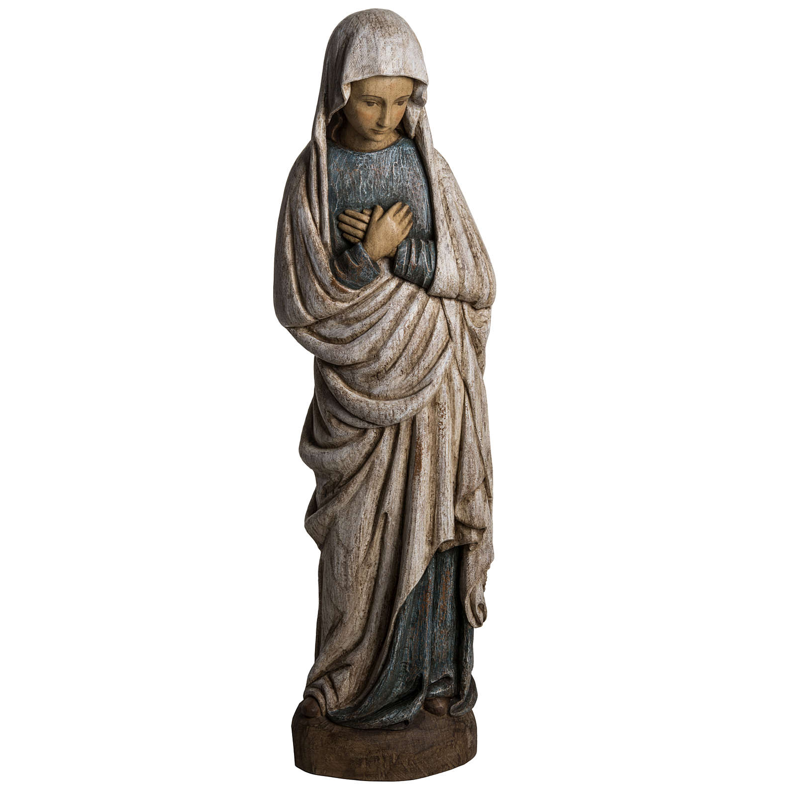 Vergine dell'Annunciazione 80 cm legno dipinto Bethléem 4