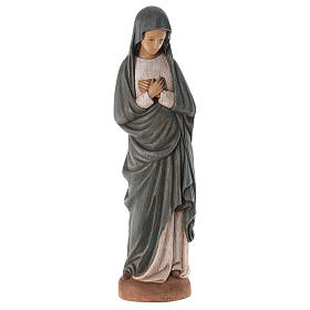 Hand painted wooden statues: Virgin Mary, Annunciation statue in painted wood, 80 cm