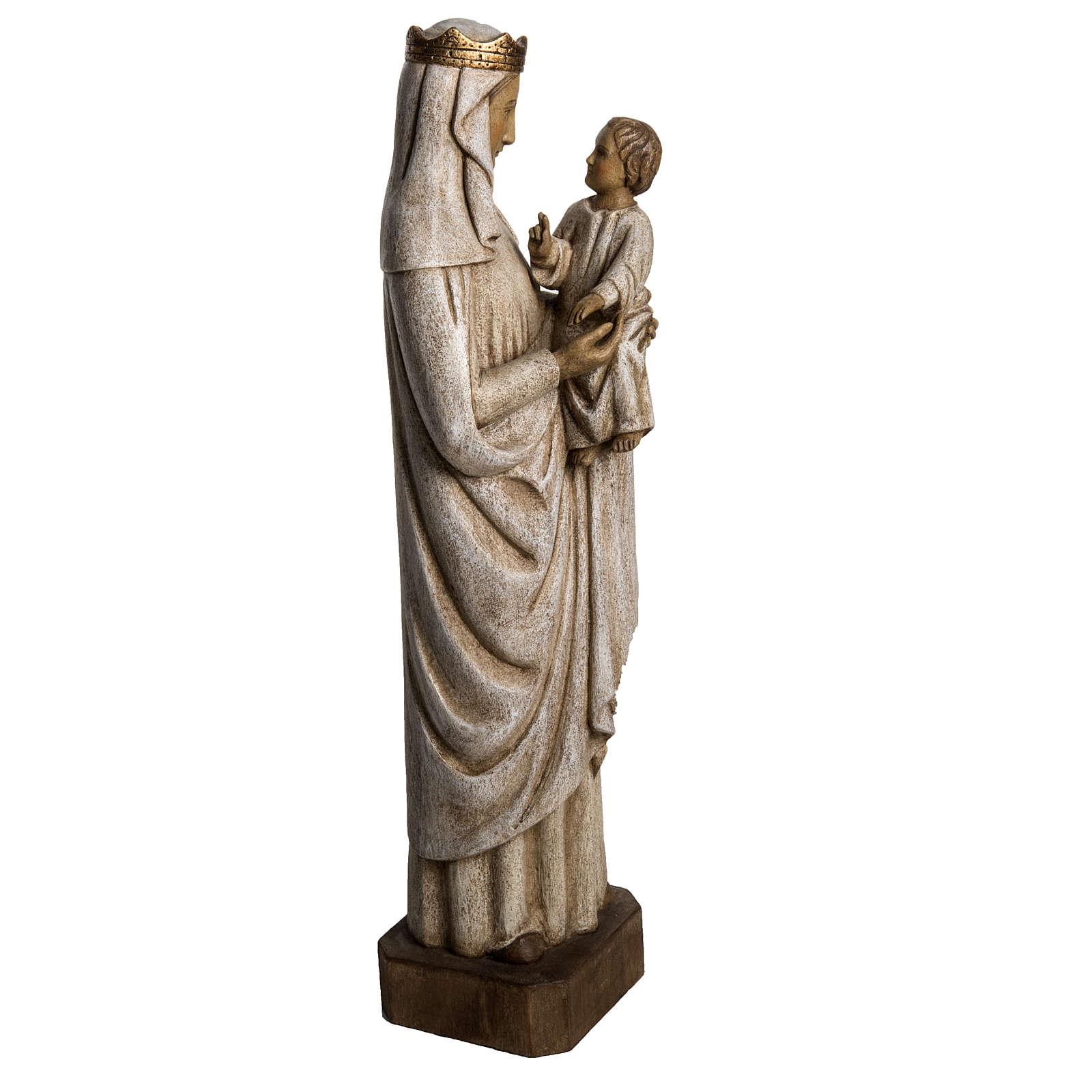 Madonna di Pontoise (du regard) 62,5 cm legno dipinto 4