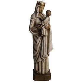 Madonna di Pontoise (du regard) 62,5 cm legno dipinto s1