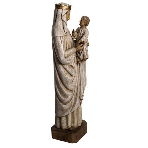 Madonna di Pontoise (du regard) 62,5 cm legno dipinto 2