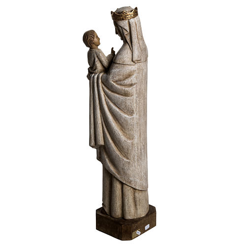 Our Lady of Pontoise (du regard) statue in painted wood 62,5cm 4