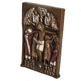 Madonna dal Cuore Profondo 75 cm legno finitura antica s2