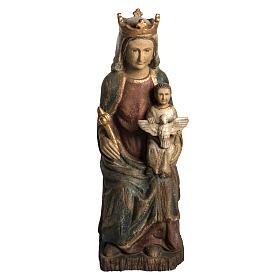 Gottesmutter von Rosay 63cm Holz antikisiertes Finish s1