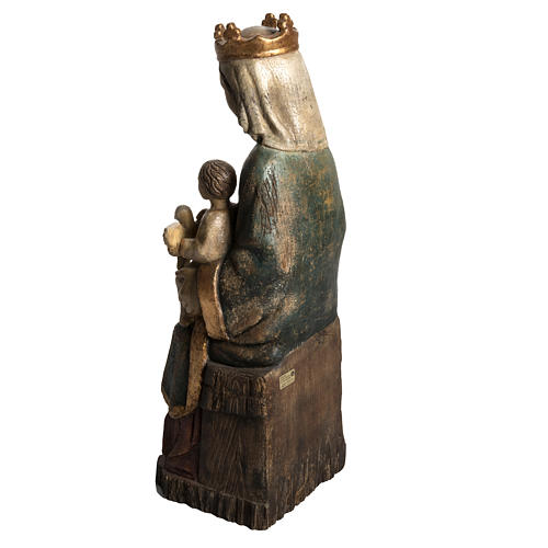 Madonna of Rosay statue in painted wood, antique finishing 63 cm 4