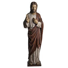 Sacro Cuore Gesù 107 cm legno dipinto Bethléem