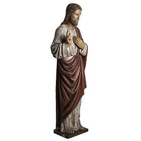 Coração Sagrado de Jesus 107 cm madeira pintada Belém