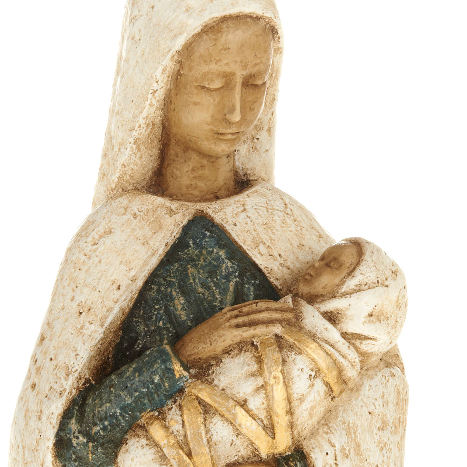 Virgin Mary with baby Jesus stone statue, Bethléem monast 4