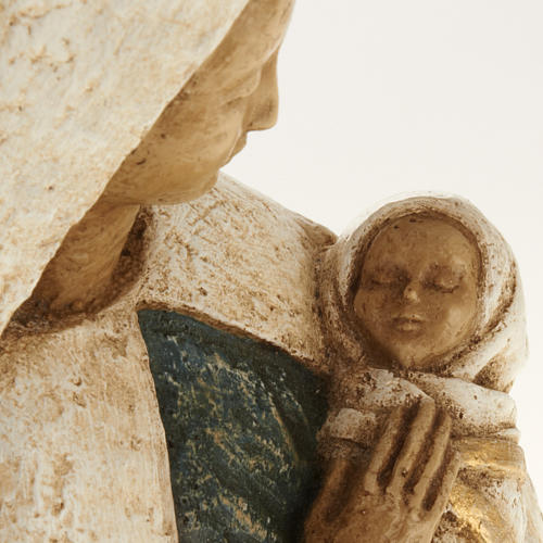 Virgin Mary with baby Jesus stone statue, Bethléem monast 3