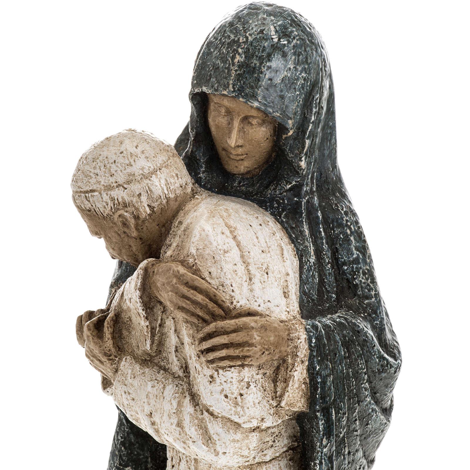 María con Juan Pablo II 27cm Bethléem 4