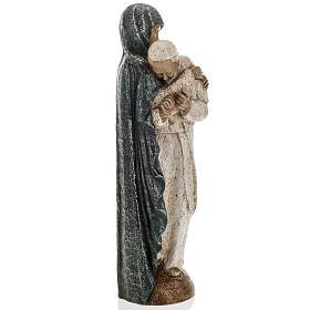María con Juan Pablo II 27cm Bethléem s6