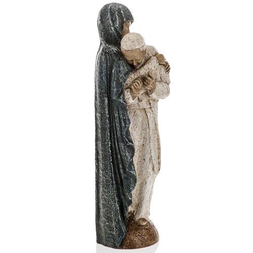 María con Juan Pablo II 27cm Bethléem 6