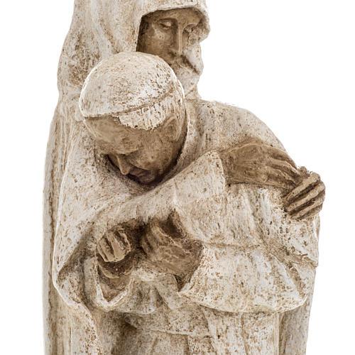 María con Juan Pablo II 27cm Bethléem 8
