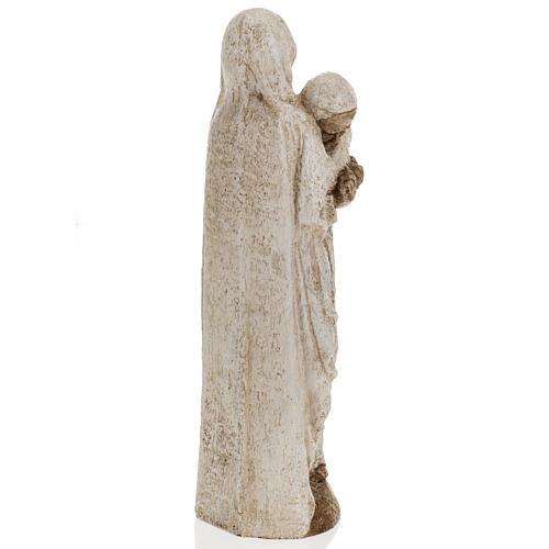 María con Juan Pablo II 27cm Bethléem 11