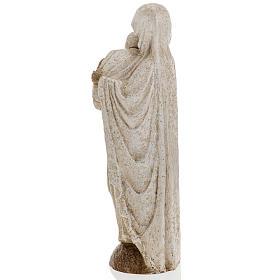 Vierge Marie avec Jean Paul II 27 cm Bethléem s10