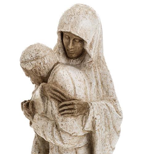 Vierge Marie avec Jean Paul II 27 cm Bethléem 9