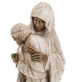 Maria con Giovanni Paolo II 27 cm Bethléem s9