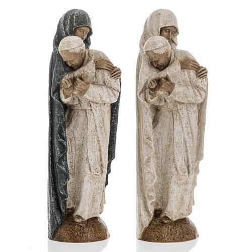 Maria con Giovanni Paolo II 27 cm Bethléem 1
