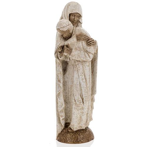 Maria con Giovanni Paolo II 27 cm Bethléem 7