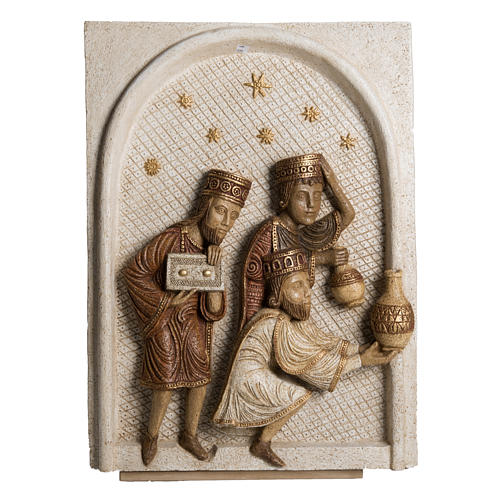 Big Autumn Nativity Scene in white stone Bethléem 4