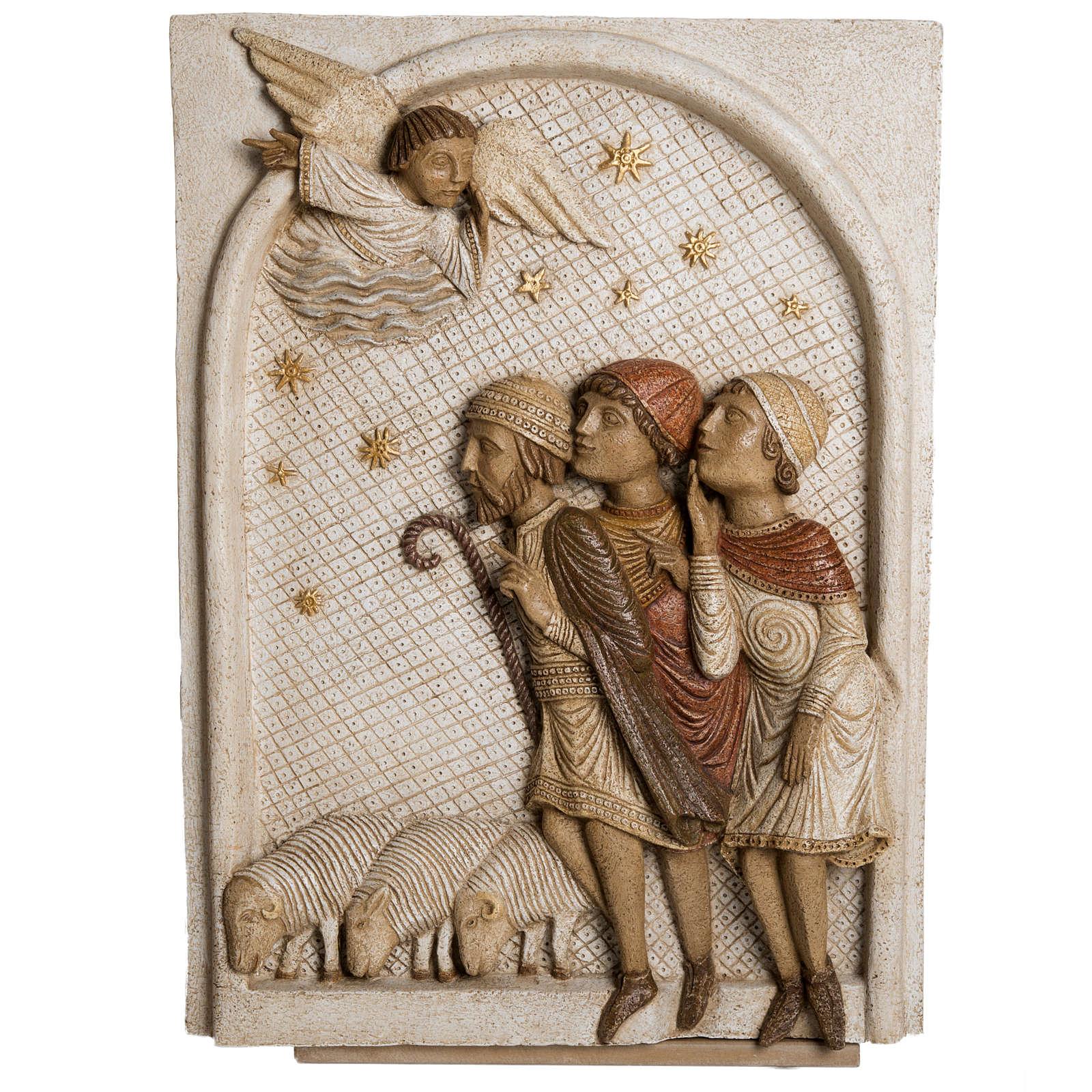 Grande crèche d'Autun blanche pierre Bethléem 4