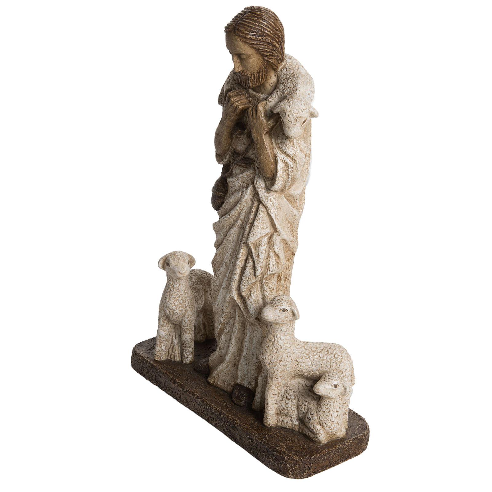 Good Shepherd in stone, Bethléem 38cm 4