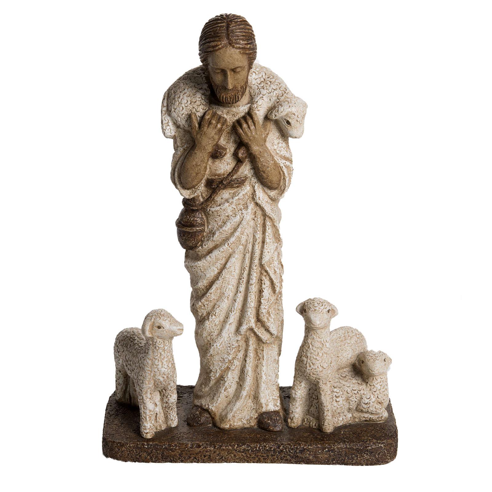 Buon Pastore 38 cm pietra Bethléem 4