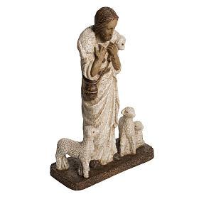 Buon Pastore 38 cm pietra Bethléem s2