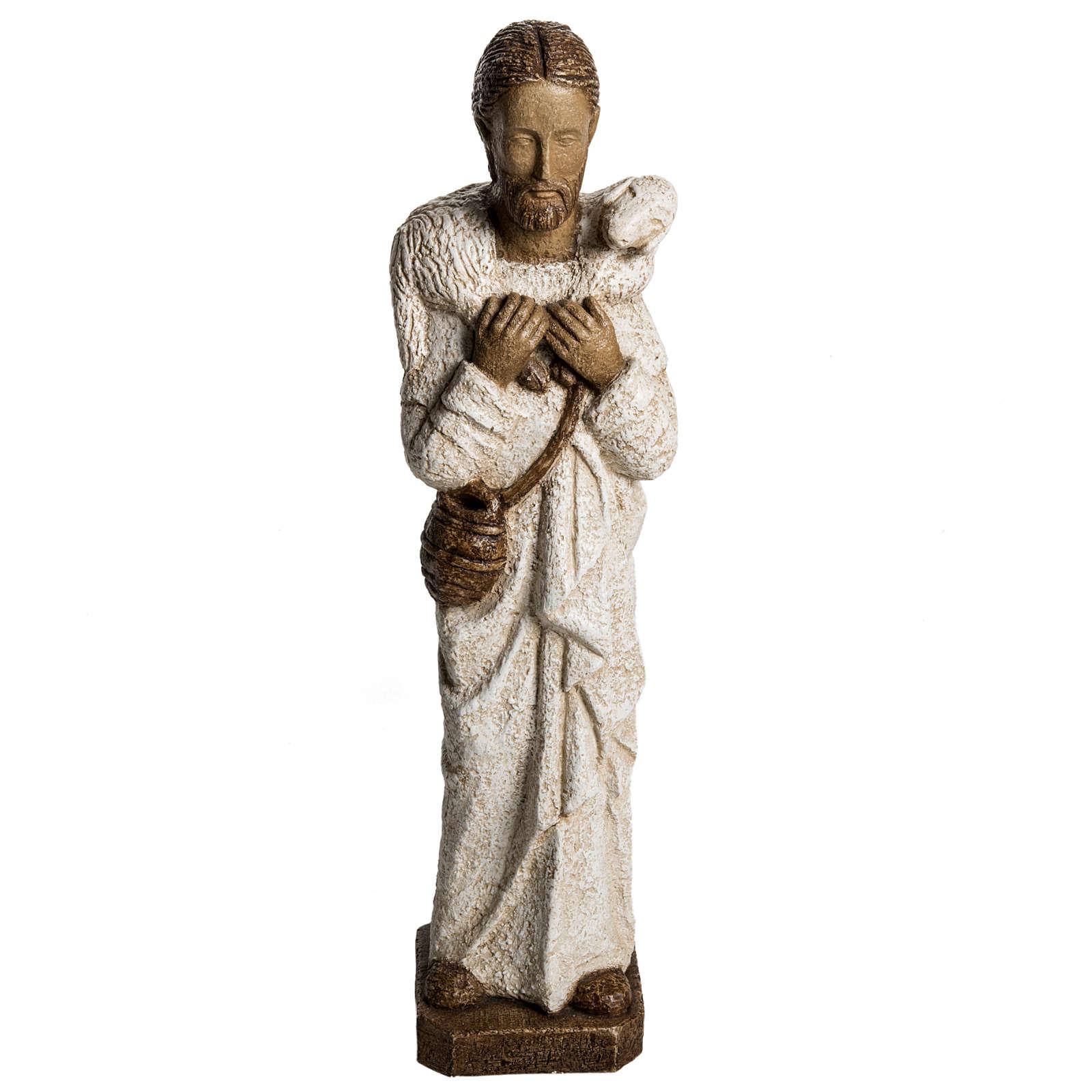 Good Shepherd in stone, Bethléem 56cm 4