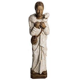Good Shepherd in stone, Bethléem 56cm s1