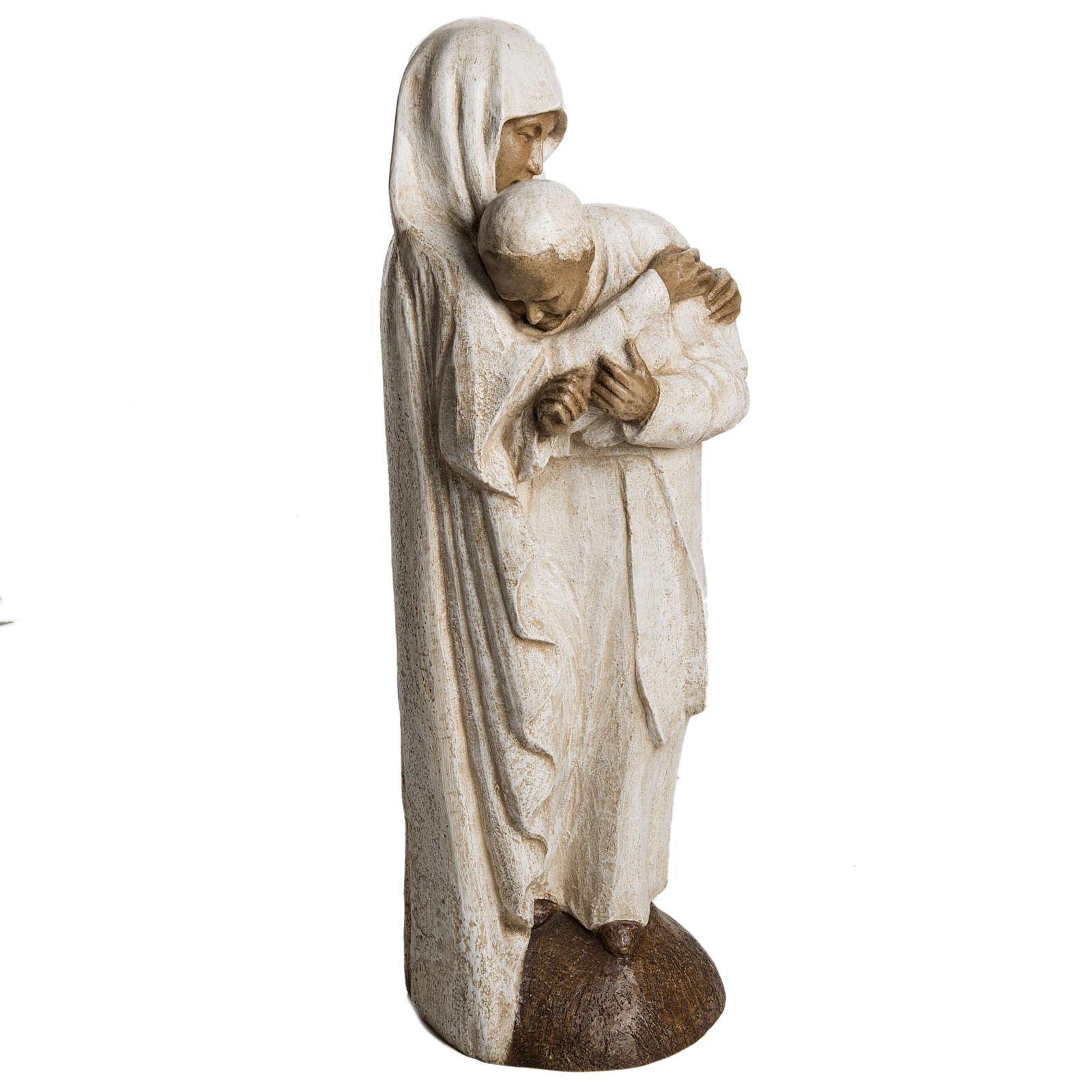 María y Juan Pablo II piedra Bethléem 56 cm 4