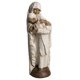 María y Juan Pablo II piedra Bethléem 56 cm s1