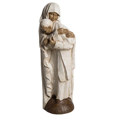 María y Juan Pablo II piedra Bethléem 56 cm 1
