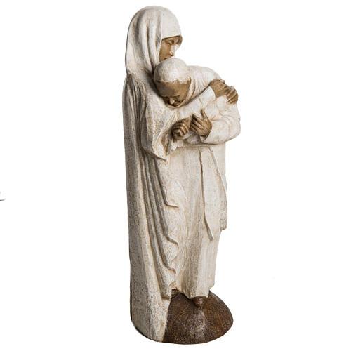 María y Juan Pablo II piedra Bethléem 56 cm 2