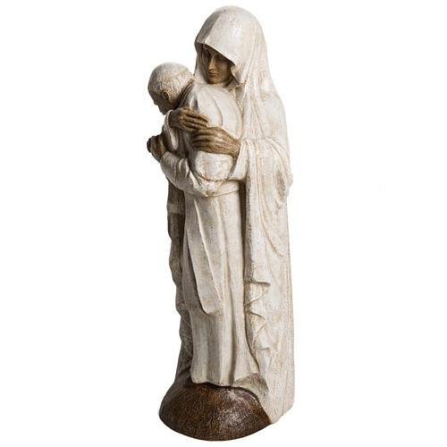 María y Juan Pablo II piedra Bethléem 56 cm 3
